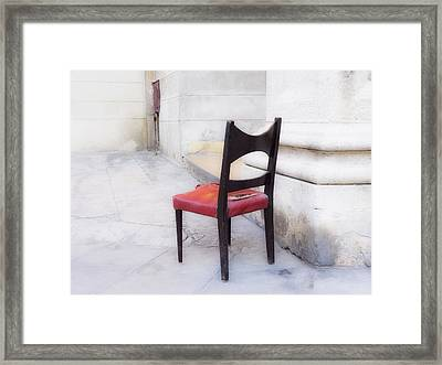 Jacob's Chair Framed Print by Artecco Fine Art Photography