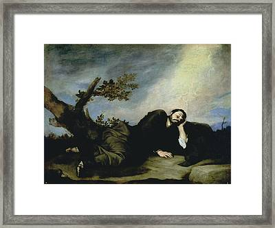 Jacobs Dream Framed Print by Jusepe de Ribera