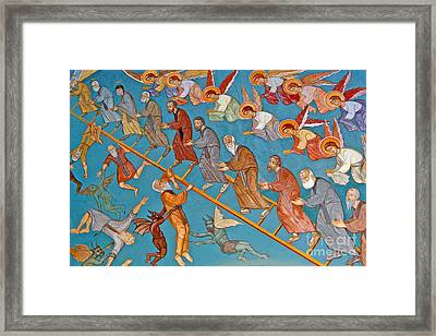 Jacobs Ladder Framed Print by Cypriot School