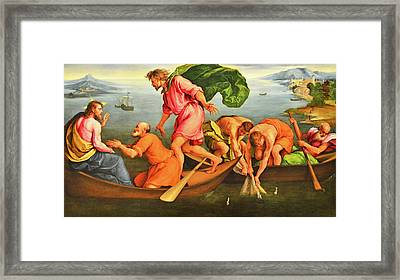 Framed Print featuring the photograph Jacopo Bassano Fishes Miracle by Munir Alawi