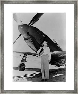 Jacqueline Cochran 1906-1980 American Framed Print