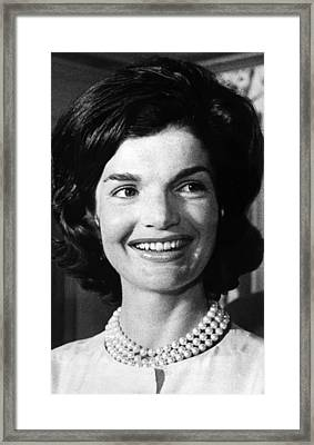 Jacqueline Kennedy As First Lady. Ca Framed Print by Everett