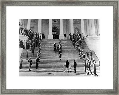 Jacqueline Kennedy Escorts Framed Print