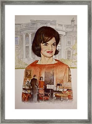 Jacqueline Kennedy Onassis  Framed Print by Cliff Spohn