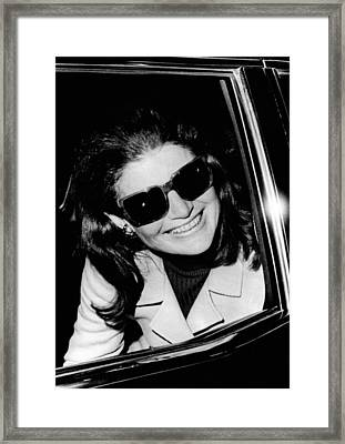 Jacqueline Kennedy Onassis Smiles Framed Print by Everett
