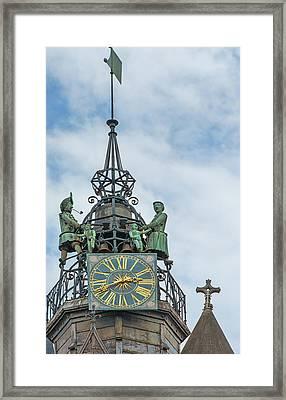 Jacquemart Bell Family, Dijon, France Cathedral Framed Print