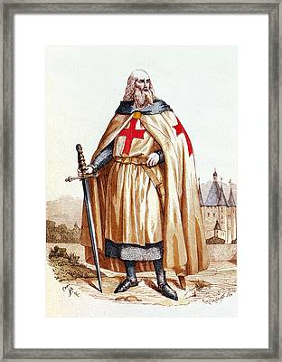 Jacques De Molay, Knights Templar Grand Framed Print by Science Source