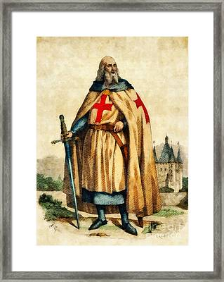 Jacques De Molay, Last Grand Master Of The Knights Templar Framed Print