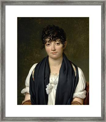 Jacques-louis David - Suzanne Le Peletier De Saint-fargeau Framed Print