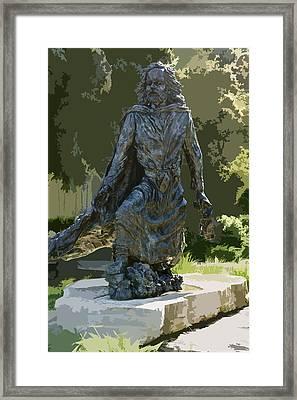 Jacques Marquette Sculpture Framed Print by Art Spectrum