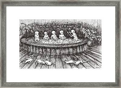 Framed Print featuring the drawing Jacuzzi 1 by R  Allen Swezey
