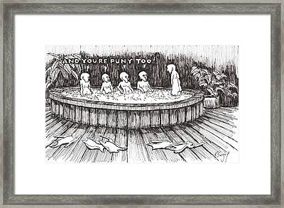 Framed Print featuring the drawing Jacuzzi 2 by R  Allen Swezey