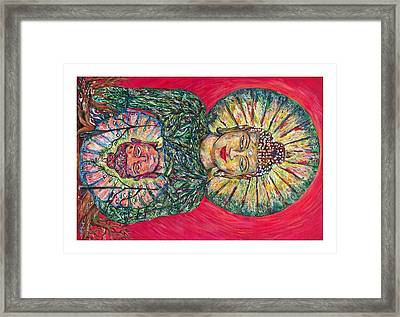 Jade Buddah Framed Print by Joseph Lawrence Vasile