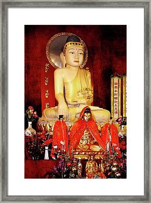 Jade Buddha Jing'an Temple Shanghai Framed Print by Christine Till