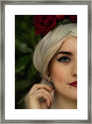 Jade Close Crop Framed Print