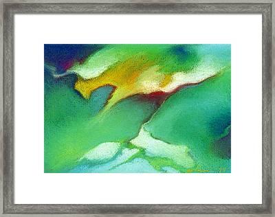 Jade Ice Framed Print