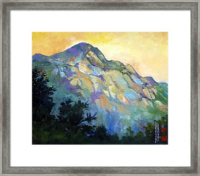 Jade Mountain Framed Print