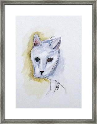 Jade The Cat Framed Print
