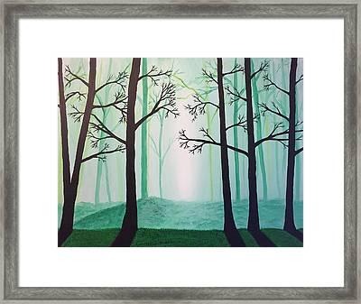 Jaded Forest Framed Print