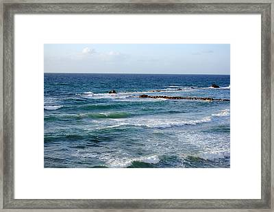 Jaffa Beach 10 Framed Print by Isam Awad