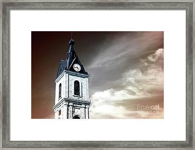 Jaffa Clock Tower Infrared Framed Print