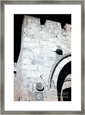 Jaffa Gate Infrared Framed Print