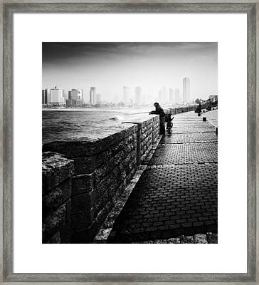 Jaffa Port Framed Print