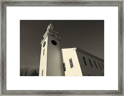 Jaffrey Meetinghouse Framed Print by Lois Lepisto