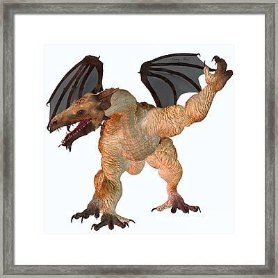 Jag Dragon Framed Print by Corey Ford