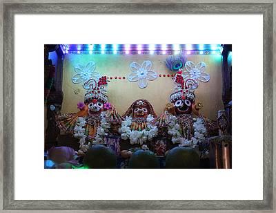 Jagannath, Baladev And Subhadra At Govinda's, Mumbai Framed Print