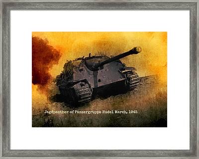 Framed Print featuring the digital art Jagdpanther German Ww2 Tank by John Wills