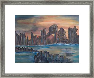 Jagged Beauty Framed Print by Mikki Alhart