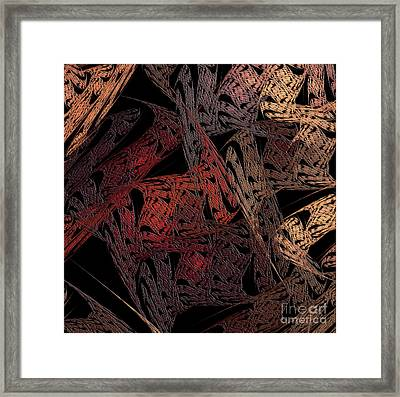 Jagged Edges Diptych Right Side Framed Print