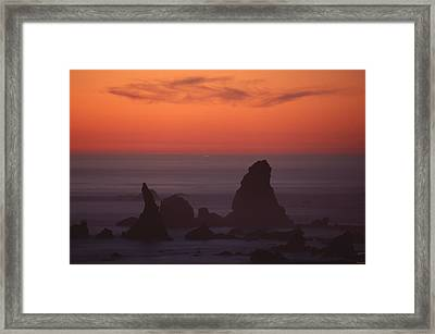 Jagged Offshore Rocks  Framed Print