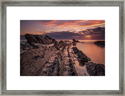 Jagged Rocks Framed Print