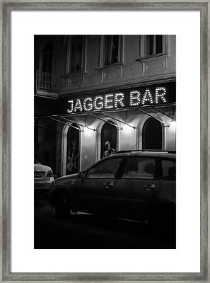 Jagger Bar In Ufa Russia Framed Print
