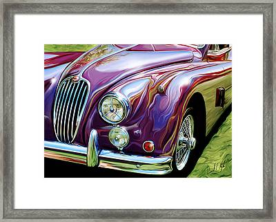 Jaguar 140 Coupe Framed Print by David Kyte