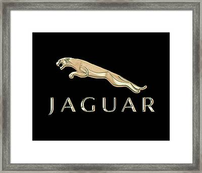 Jaguar Car Emblem Design Framed Print