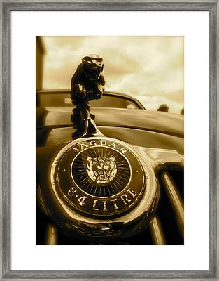 Jaguar Car Mascot Framed Print