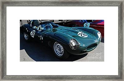 Jaguar D Type Framed Print by Curt Johnson