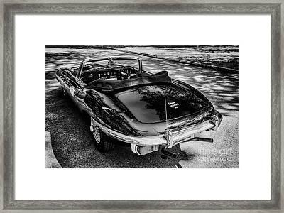 Jaguar E-type 4.2 Framed Print by Adrian Evans