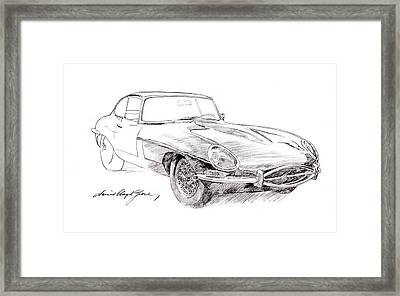 Jaguar E-type Framed Print