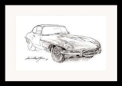 Jaguars Drawings Framed Prints