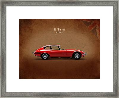 Jaguar E Type Framed Print by Mark Rogan