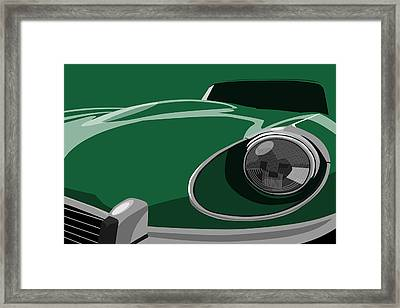 Jaguar E-type Framed Print by Michael Tompsett