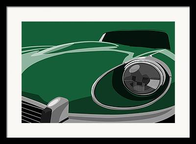 Jaguar E Type Classic Car Framed Prints