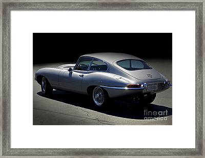 Jaguar E-type Nocturne Framed Print by Curt Johnson