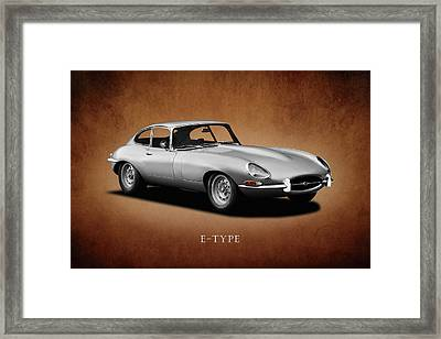 Jaguar E-type Series 1 Framed Print by Mark Rogan