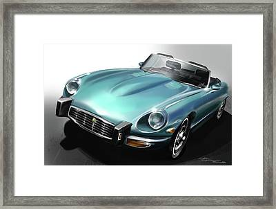 Jaguar E-type Framed Print by Uli Gonzalez
