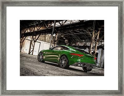 Jaguar F-type - British Racing Green - Rear View Framed Print